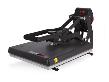 Side profile of The MAXX Clam Heat Press